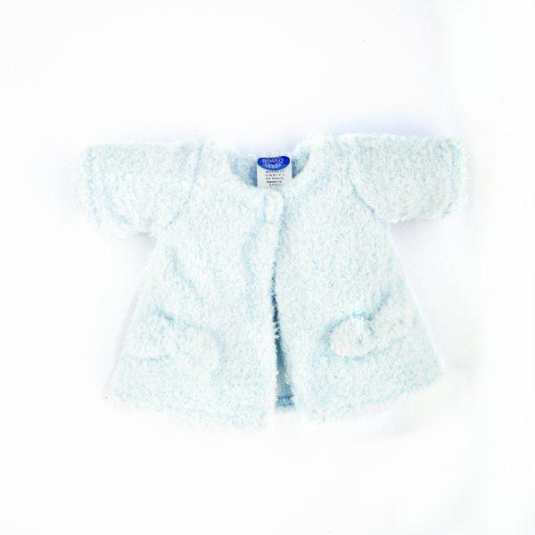 Abrigo de peluche azul